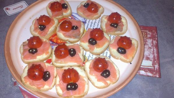 Toasts Coccinelle (Menu Repas de Famille : Entrée 1/2)
