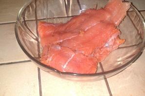 Gratin au deux saumons (Menu Repas de Famille : Plat principal )