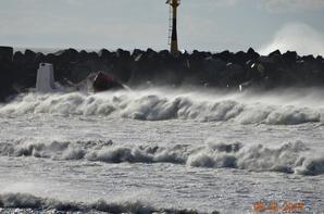 Tempête dur la côte basque