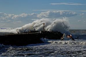 Tempête et naufrage sur la côte Basque (2014)