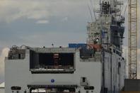 Petite ballade sur le port de St Nazaire,