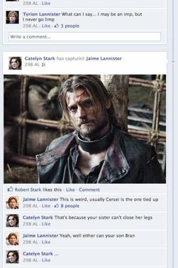Charles Dance ( Tywin Lannister ) parle de Peter Dinklage, Poisson d'avril et les héros sur face book
