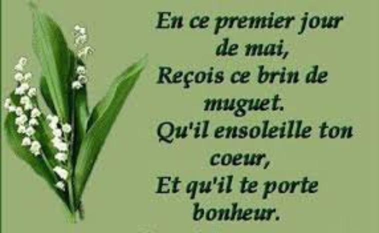 BON 1er MAI DU BONHEUR A TOUS....