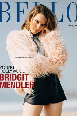 """bridgit mendler en couverture du magazine """" Bello """" d'avril 2015."""