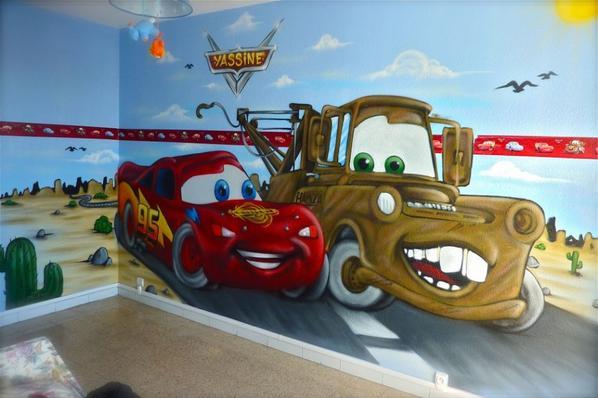 chambre graffiti cars disney blog de decorationgraffiti. Black Bedroom Furniture Sets. Home Design Ideas