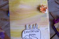 Invitations pour les 4 ans de ma fille.