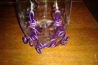 bijoux en fil d'alu, fabriqués par ma soeur