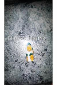 PETIT nail art fait de mes mains ancre marine et ananas & pastéque