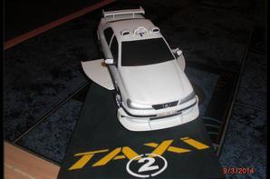 Voiture - Peugeot 406 Taxi 2 en résine, numérotée à 1000 ex