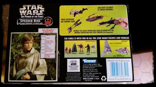 Star Wars, Speeder Bike avec figurine de Luke