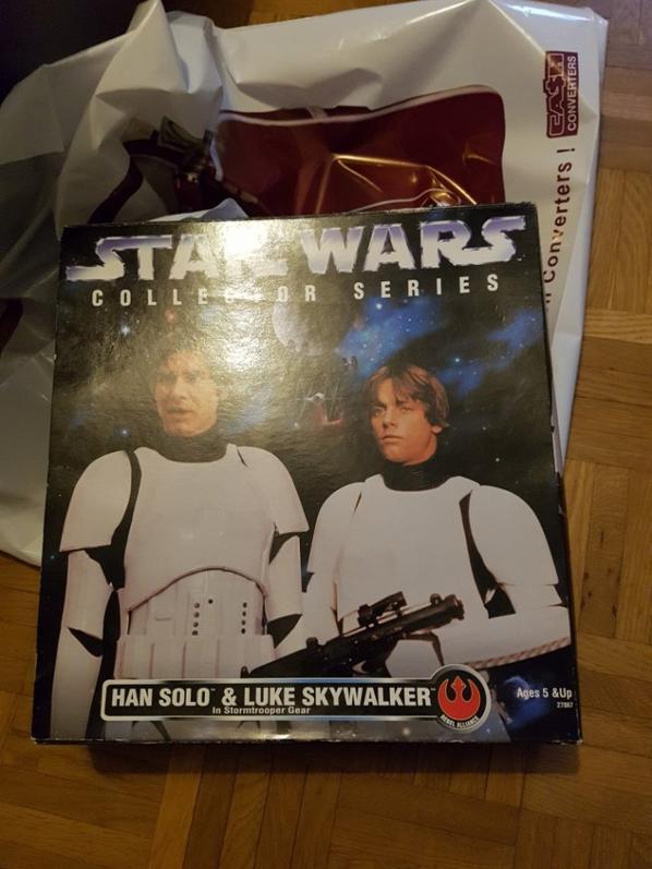 Star Wars, Han Solo et Luke Skywalker dans la série Stormtrooper