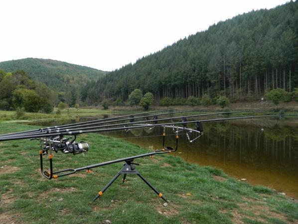 Session dans un étang naturel