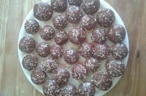 mini muffins a l'orange glaçage chocolat