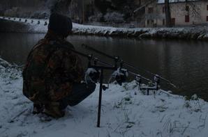 24H en canal à Osselle sous la neige