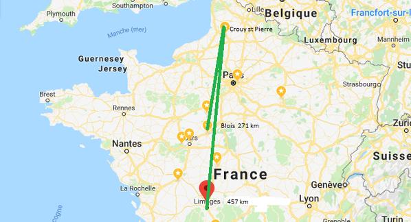Le weekend dernier Blois et Limoges, je rentre de vacance, donc félicitation aux fiston qui à gérer!
