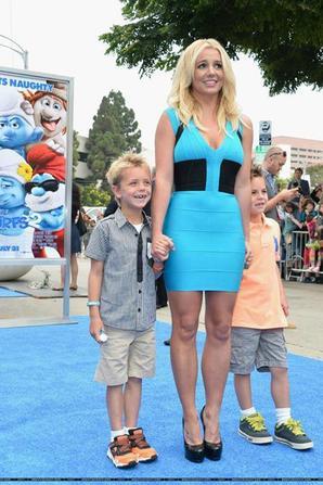 Britney à l'avant-première des Schtroumpfs 2 (Los Angeles)