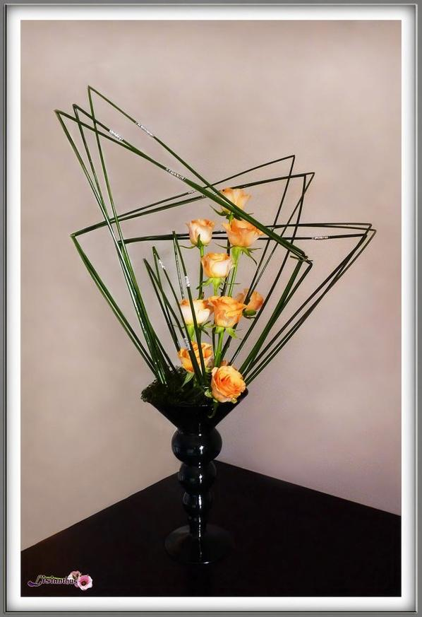 Les joncs art floral bouquet cr ations florales de for Lisianthus art floral