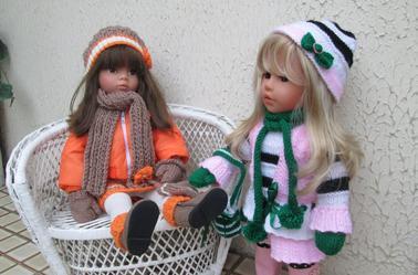 la fourrure et le cuir ont laissé place au tricot