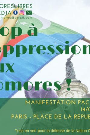 Manifestation contre la dictature et le désordre politique aux Comores