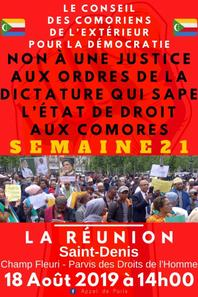 Manifestation  contre la dictature aux comores: acte 21