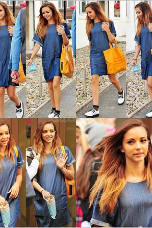 19/08/13 Little Mix, chacune de leur côté, arrivaient au studio d'enregistrement à Londres