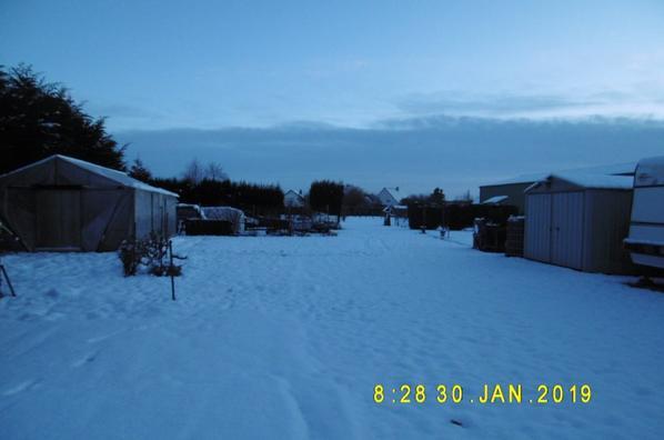 10 cm de neige et moins 5 ce matin