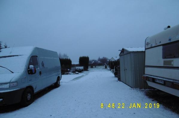 neige sur la Normandie et moins 6