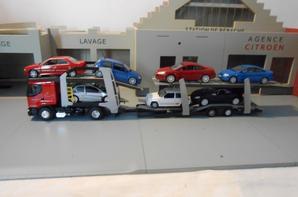 tracteur renault premium et porte voiture de chez eligor au 1/43.