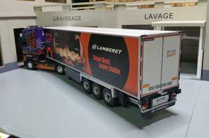 remorque lamberet sr2 superbeef + groupe thermo king slxe 300 renault magnum us 66 eligor 1/43.