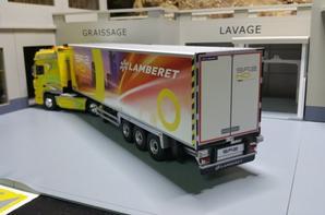 remorque lamberet sr2 heavy duty groupe thermo king slx 300 daf xf 105 valeo eligor au 1/43.