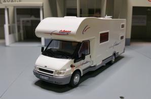 camping-cars ford mageo le challenger 172 modèle ixo au 1/43.(édition hachette numéro 17 passion camping-cars).