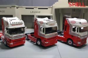 tracteur scania r / daf xf 105 / daf xf 106 trs james intrenational modèle eligor au 1/43.
