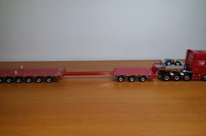 scania r longline 8x2 nooteboom mco-px 3+6 axle modèle imc tekno au 1/50.