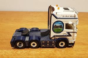 scania r topline transport d'hoine modèle wsi au 1/50.