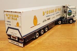 scania r 6x2 topline transport d'hoine modèle wsi au 1/50.