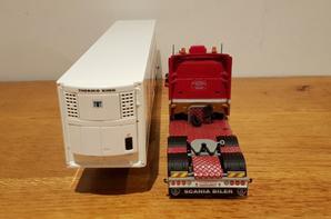 scania r 6x2 avec remorque frigo transport ronny ceusters modèle tekno au 1/50.