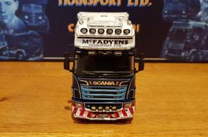 scania r longline 8x4 transport McFadyens  modèle tekno au 1/50.