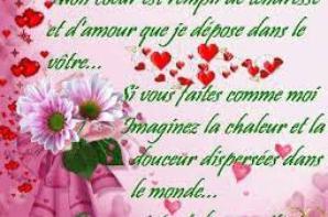 bsr bmes amitiés et les amateur du poeme et poesie d amour et je vous souhait a tous une tre belle soiré et douce nuit bisou a plus