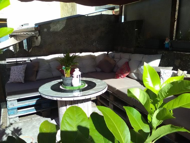Salon de jardin en palette - ... Bienvenue dans mOn mOnde ...