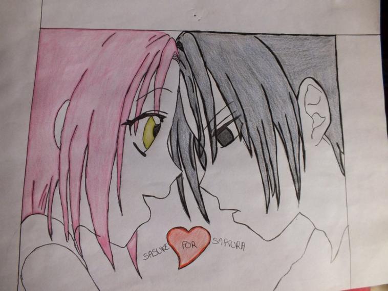 Voici des dessins du manga naruto avec ses amis sasuke sakura love - Dessin naruto manga ...