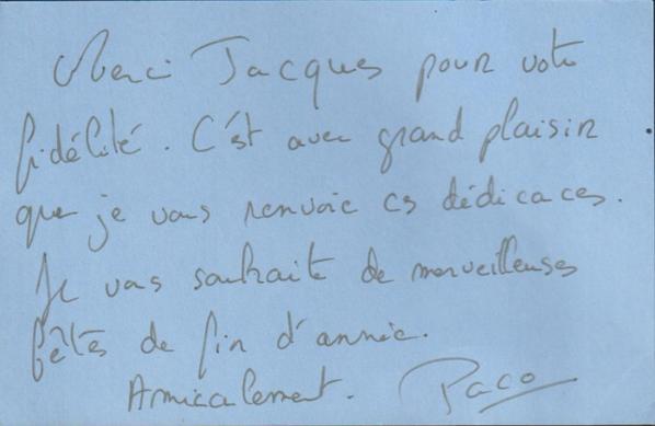 Paco Perez  (LES MYSTERES DE L'AMOUR)