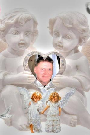 je vous présente mon petit ange oui mon papa qui nous a quitté le/03/10/2014 partis rejoindre les ANGES
