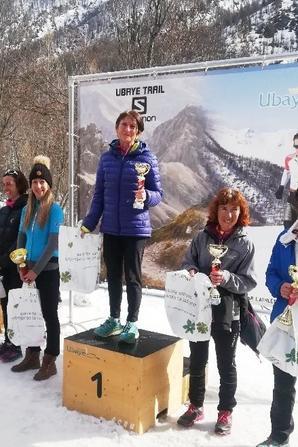 Ubaye Snow Trail 2020 (Saint-Paul-sur-Ubaye, 04) - Jany Nosmas 1ère Master 6 sur 9 km