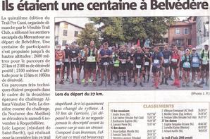 Trail Per Cami 2021 (Bevédère, 06) - Baptiste 3ème sur 13 km, Romain 5ème sur 27 km