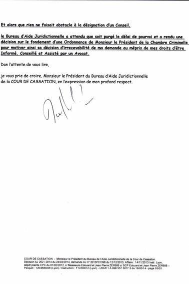 Cour de cassation monsieur le pr sident du bureau d 39 aide - Bureau d aide juridictionnelle marseille ...