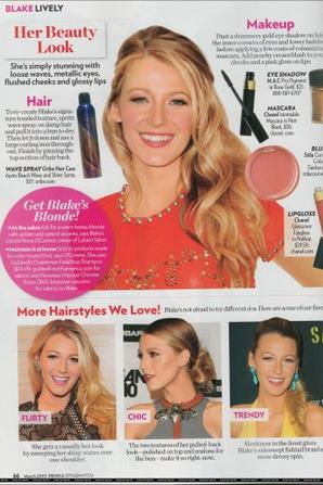 Blake lively est dans le magasine People style !