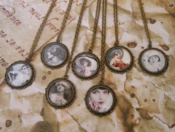 collier camée femme 1900