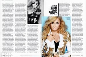 """Demi pour le magazine """"Cosmopolitian"""" d'août 2013"""
