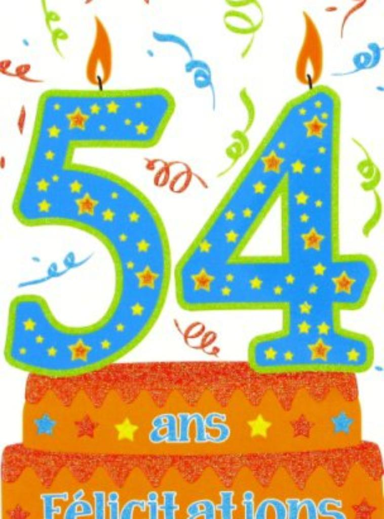 54 ANS AUJOURDHUI