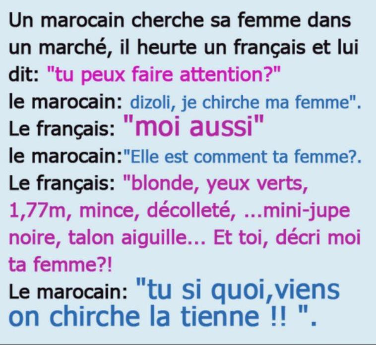 Histoire de Francais/ Marocains